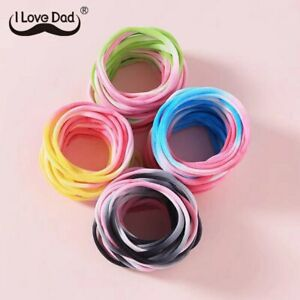 10Pcs/Set Colorful Kids Elastic Hair Bands Rainbow Hair Rope Soft Rubber Band