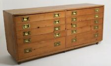 More details for antique bank of 12 drawers plan chest