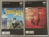 Spider-Gwen #1 & Ms. Marvel 1 - Hip Hop Variants - NM-