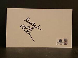 Signed George Allen Index Card HOF AUTOGRAPH Washington Redskins CERTIFIED AUTO