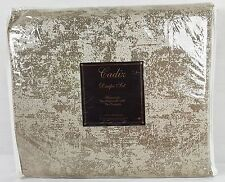 "JCPenney Cadix Lined Rod Pocket Panel Pair Curtains - 80""x 84"" - Taupe / Blue"