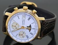 Eberhard & Co. 100th anniversary GP SS auto. chronograph moon phase men's watch