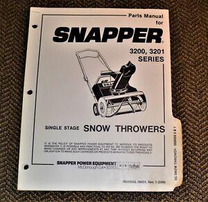 VTG 1986 Snapper Snow Thrower Manual 06024 3200 3201