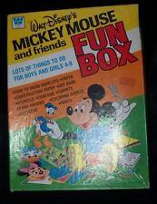 Vtg 1981 WALT DISNEY'S MICKEY MOUSE FRIENDS FUN BOX Game Paper Toy Lot Whitman