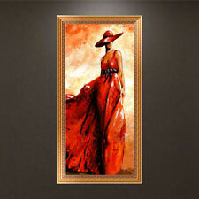 DIY 5D Beauty In Red Dress Diamond Embroidery Painting Cross Stitch Craft
