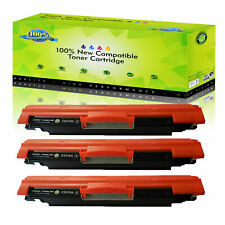 3PK CE310A Black Toner Cartridge For HP LaserJet Pro 100 color MFP M175nw M275