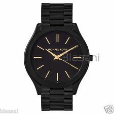 Michael Kors Original MK3221 Women's Skim Runaway Stainless Steel Black Watch