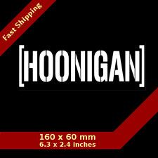 Funny Hoonigan Car Vinyl Bumper Window Sticker Decal JDM Drift Race Suburu Truck