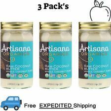 3 Pack's Artisana, Organics, Raw Coconut Butter, 14 oz (397 g) Gluten Free Vegan