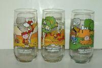 Vintage 1968 Peanuts Camp Snoopy McDonalds Glasses Set of 3