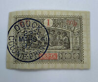 1897 OBOCK DIJBOUTI SON CANCEL ON OBOCK FRANCE STAMP