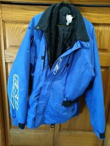FXR Racing Pack Jacket Snowmobile Sled Coat Men's 2XL Tall Blue Navy