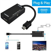 Micro USB Male to HDMI Female Adapter Cable for Android Cell Phone Tablet HD TV