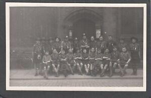 Postcard Perth Scotland boy scouts St John's Kirk scouting RP