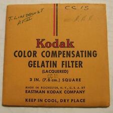Kodak wratten GELATINA Filtro no.cc15 7.6cm OR 7.6cm Cuadrado