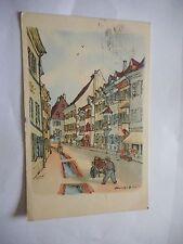 Zwischenkriegszeit (1918-39) Lithographie aus Baden-Württemberg für Architektur/Bauwerk