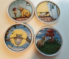 Gary Patterson Danbury Mint Funny Dog And Cat Coasters Set Of Four