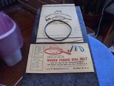 Vintage NOS JFD Woven Fabric Drive Belt #16 Zenith,Garod,Airline, Excellent!