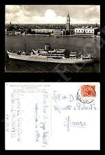 """Società di Navigazione """"Adriatica"""" - nave """"Messapia"""" 21.2.1957 - Formato Grande"""