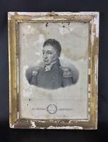 """Antique 19 ème Lithographie Charpentier """"Le Général Lafayette"""""""
