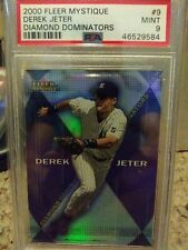 2000 Fleer Mystique Derek Jeter #9 Diamond Dominators PSA 9