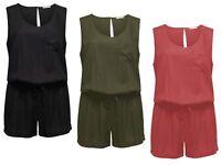 ONLY Damen Overall Jumpsuit onlGEGGO SL PLAYSUIT NOOS kurz Sommer Einteiler NEU