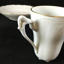 Tea Cup and Saucer White Tettau Germany Elephant