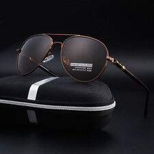 Mens High-End Polarized UV400 Aviator Sunglasses Driving Sport Outdoor Eyewear