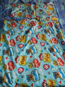 double Paw Patrol blue mix duvet cover  bedding set  100% polyester