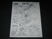 Athearn HO GE-B Diesel Parts Chart (Engine Exploded View Drawing), *Note