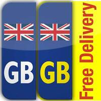 2 GB Flag Union Jack Badge Car Number Plate Vinyl Stickers United Kingdom not EU