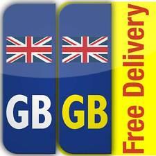 2 GB Flag Union Jack Badge Car Number Plate Vinyl Stickers United Kingdom not EU