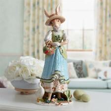 New Fitz & Floyd Dapper Rabbit Female Figurine, Blue