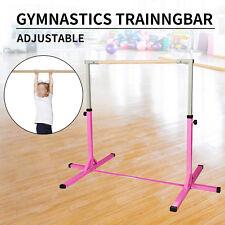 Junior Training Bar Horizontal Gymnastic Bar Indoor Sports Adjustable Pink