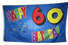 3x5 Happy 60 60th Sixtyth Birthday Rough Tex Knitted Flag 3'x5' Banner