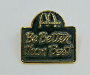 McDonalds Be Bette Than Best Employee Crew Collectible Pinback Pin Button Taiwan