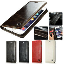 CaseMe003 Vintage Leather Wallet Flip Case Cover for iPhone Samsung LG Sony HTC