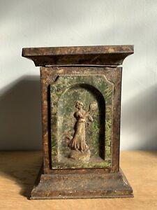 Decorative Tin Pedestal Stand Base