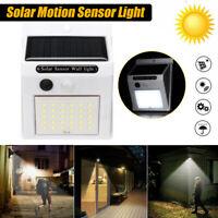 Waterproof 30 LED Solar Power PIR Motion Sensor Wall Light Outdoor Garden Lam