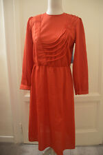Abito rosso vintage anni  80s red vtg dress EU38 IT42 UK10 6be57eafcea