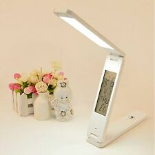 18 LED Adjustable Desk Table Bed Alarm Lamp Light Flexible Office Reading Study