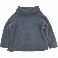 Style & Co Womens Plus Size 2X Faux Sherpa Sweatshirt Black Cowl Neck Pullover