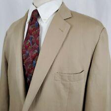 Brooks Brothers 346 Linen Cotton Tan  Blazer Sport Coat Jacket Regent Fit 48L