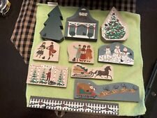Cat's Meow.Village Accessories for Christmas.10 Pieces includes signed piece