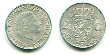 2 1/2 Gulden Niederlande 1964 Silber