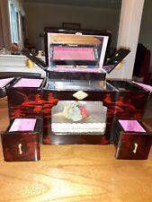 Antique Japanese Geisha Music Jewelry Box