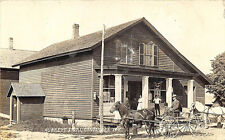 Constable NY Aubrey's Store Street View Horse & Wagon RPPC Postcard