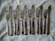 WEBBER and HILL BOXED SET FISH KNIVES & FORKS.