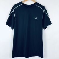 Adidas Mens Size XL Climalite Fitted Crew Neck Top Shirt Black Active Workout