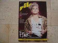 PINK gay magazine RIK Alecia Beth Moore Kinky Boots Sam Smith Aretha Franklin